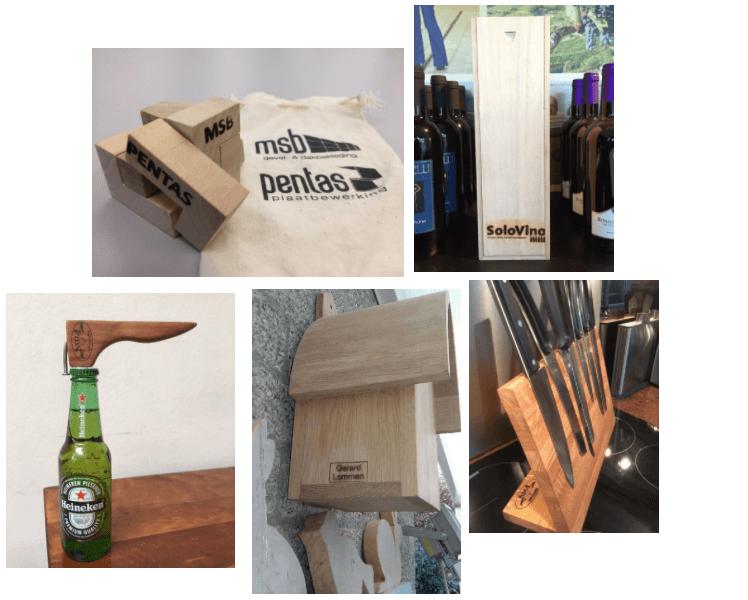 Brandstempel in hout