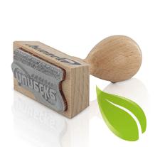 milieuvriendelijke houten handstempels