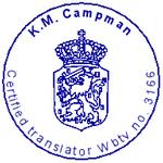 Stempel beëdigd vertaler
